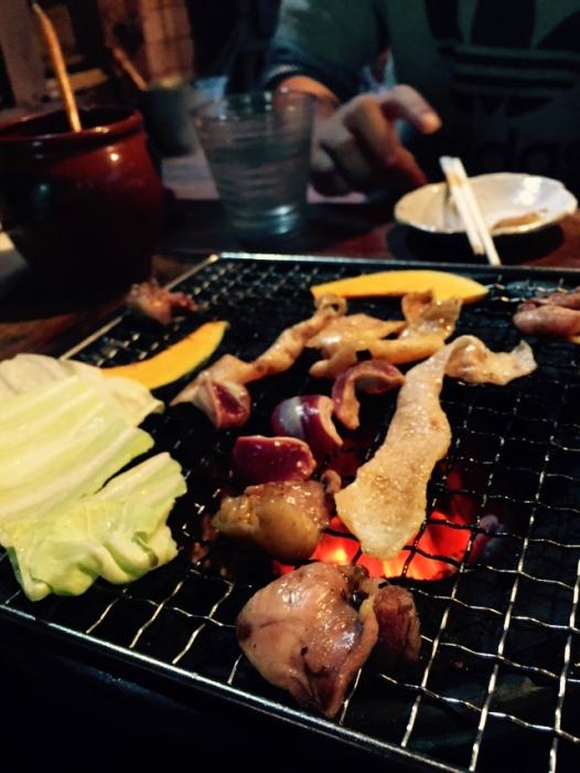 古里庵の地鶏の炭火焼き