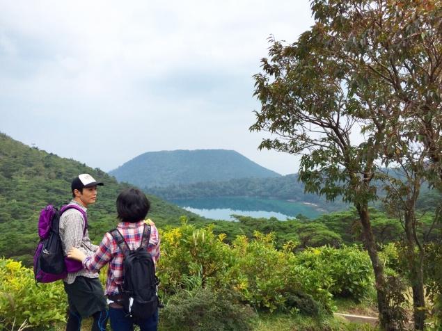 高台から見える六観音御池