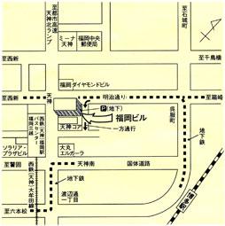 就職座談会_福岡ビル_マップ