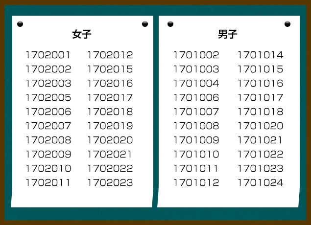 2017年恋活合格発表
