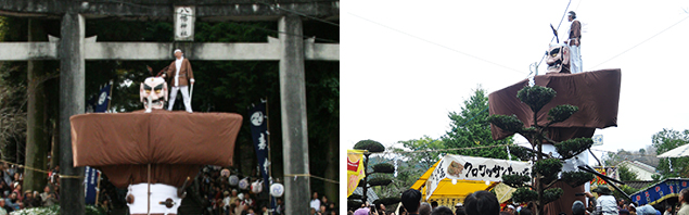 弥五郎どん祭りの様子の写真